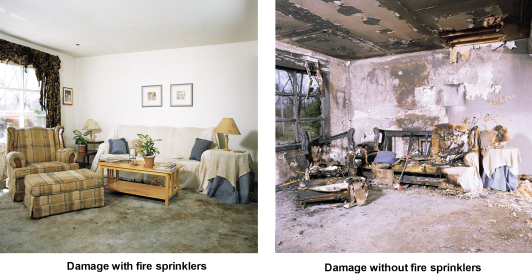 With and Without Sprinklers